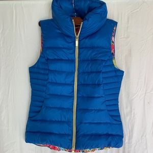 Lilly Pulitzer Bright Blue Puffer Vest